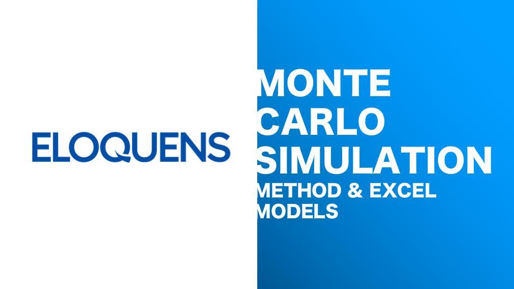 Monte Carlo Simulation Excel Models Instant Downloads Eloquens