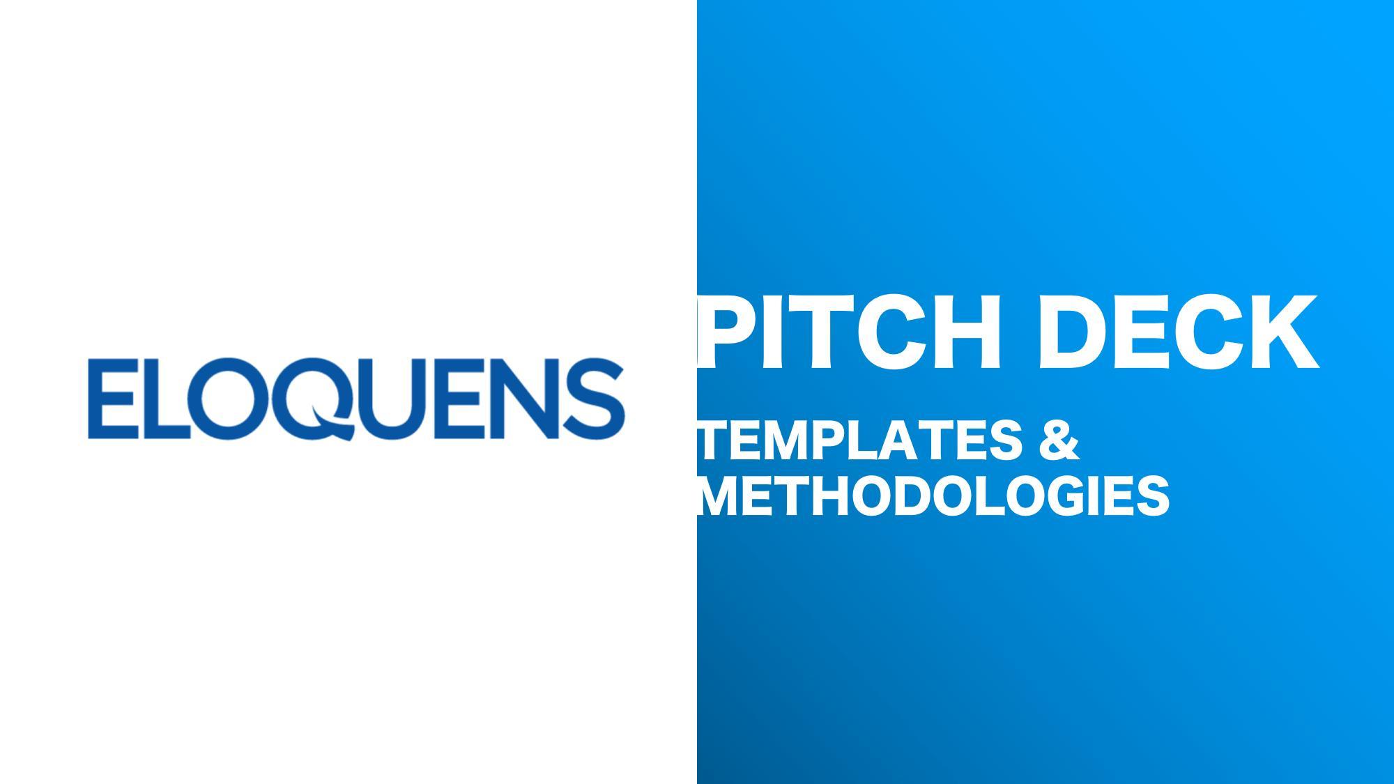 Pitch Deck Templates for Startups - Instant Downloads - Eloquens